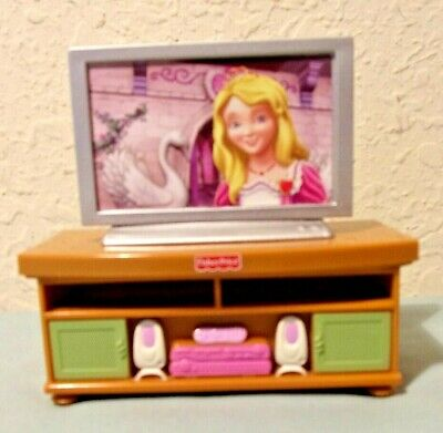Fisher Price Family Dollhouse Furniture Princess TV Stereo Table 2008