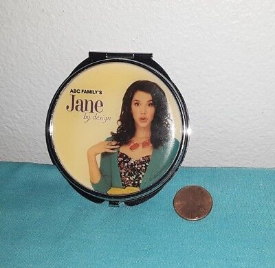 JANE BY DESIGN Promotional Portable Folding Makeup Mirror Pocket Compact (Promotional Compact Mirrors)