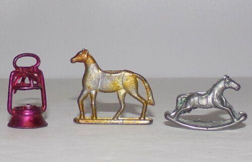 Vintage CRACKER JACK Metal Toy Prizes HORSE LANTERN ROCKING HORSE
