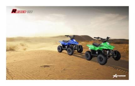 2016 ATOMIK RAIDER 110CC ATV QUAD DIRT MOTOR TRAIL BIKE 4 WHEELER