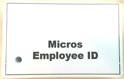 50 Magnetic Stripe Employee Swipe Id Cards -microsoracle Pos Systems