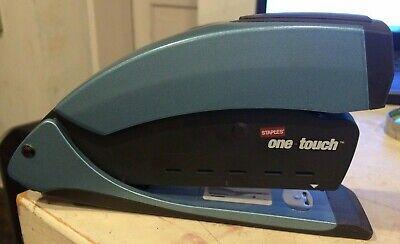 Staples One-touch Desktop Stapler Full-strip Capacity Blue