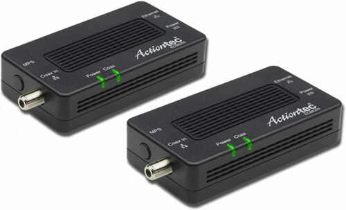 Actiontec MoCA 2.5 Network Adapter for 1 Gbps Ethernet Over Coax - 2 Pack