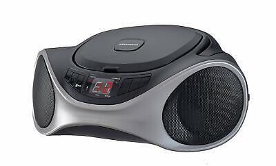Sylvania SRCD1063BT Bluetooth Portable CD Radio Boom Box - Graphite™