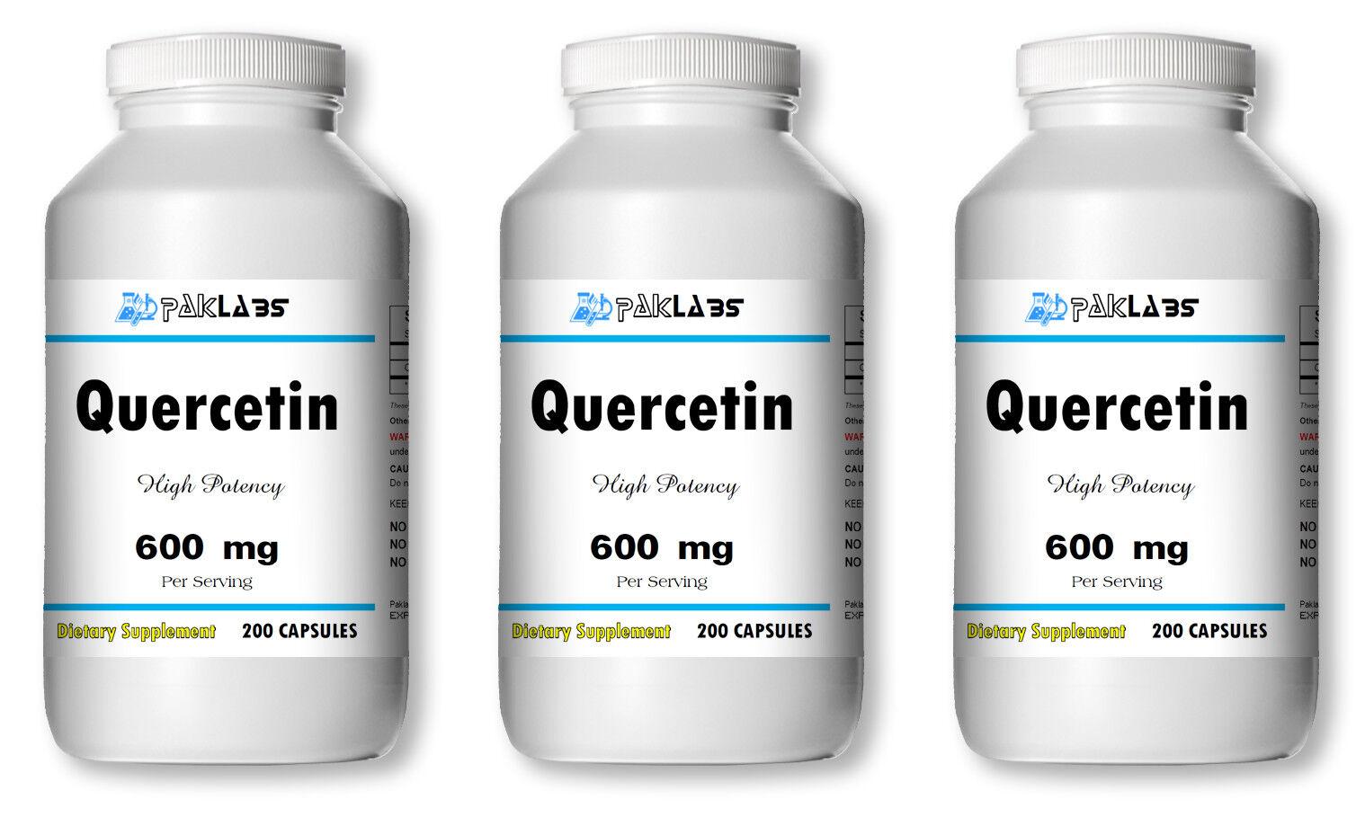 Quercetin 600mg 300mg High Potency 1-3 BIG Bottles 120-600 Capsules USA SHIPPING
