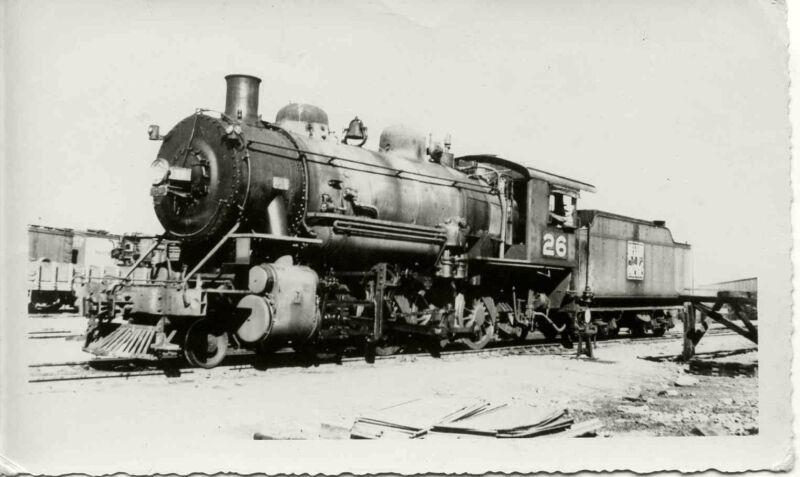 8J741 RP 1940s WESTERN PACIFIC RAILROAD 2-8-0  ? LOCO #26