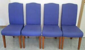 Four Linen Dining Chairs
