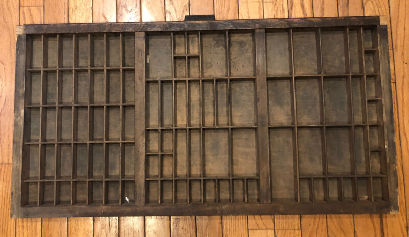 Large Antique Type Tray Printers