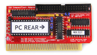Assembled Tested & Working Lo-tech ISA CompactFlash Adapter - IDE for 8-Bit ISA!
