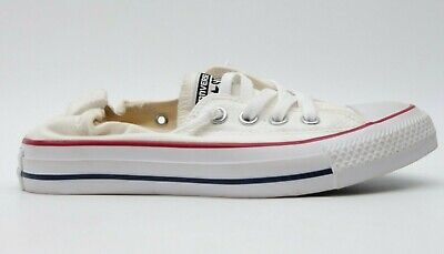 New Converse Womens US 6 EU 36.5 White Shoreline Chuck Taylor Low Top Shoes