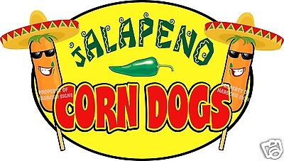 Jalapeno Corn Dogs Decal 14 Hot Dogs Concession Food Truck Cart Vinyl Sticker
