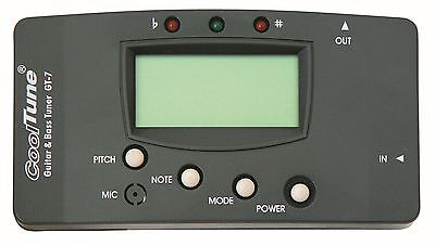 Stimmgerät/Tuner- für Gitarren - Akustik - Bässe und vieles mehr, universal, GT7