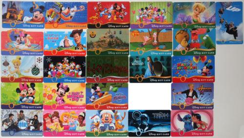 25 Disney Gift Cards 2009-2010: Disneyland Hotel, Up, Alice, Toy Story, Tron etc