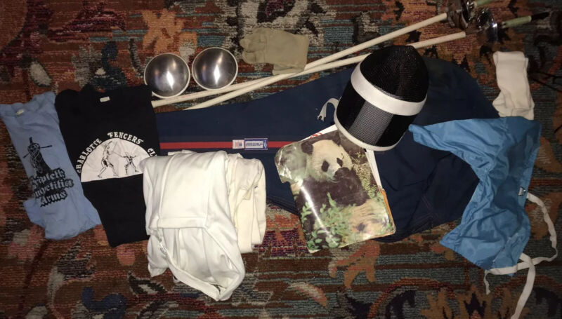 Fencing Gear-Long Sleeve Jacket, Pants, Glove, Helmet, Bag, Swords And More