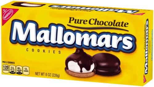 4 Boxes of Nabisco Mallomars pure chocolate Cookies 8 OZ Each