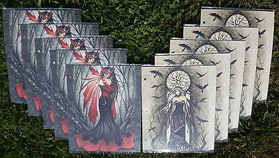 JESSICA GALBRETH Art Set of 10 Folders featuring Dark Fairies Fantasy NEW