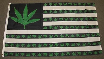 3X5 Marijuana Green 5 Point Weed Usa Weed America Flag 3X5 Banner  No Fade