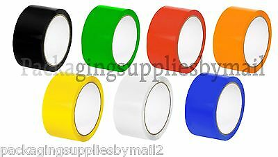 Colored Carton Sealing Packing Tape 2 X110 Yds 2 Mil Choose Your Colors Rolls