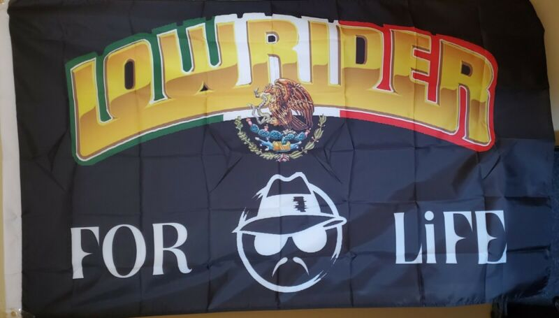 Lowrider Man 3x5  Flag (For Life) Mexico Eagle Bird