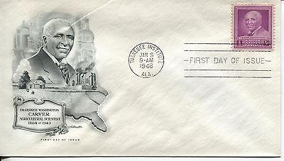 1948 George Washington Carver Famous Black American Artmaster Cachet Unaddr Fdc