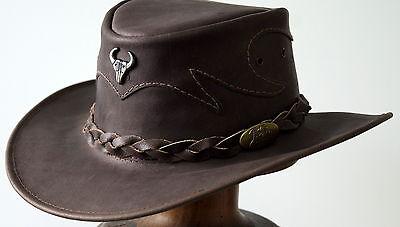 dc54105e748 Jacaru Buffalo Brown Medium Large hat Rodeo Texas Cowboy Western SPECIAL  hats