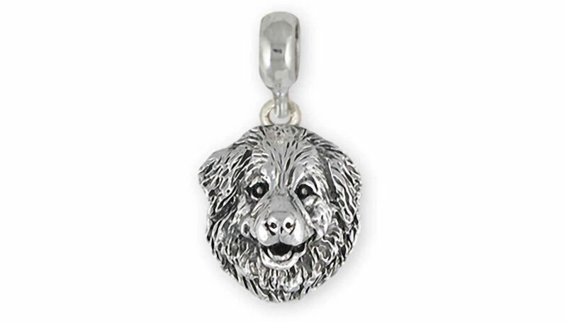 Great Pyrenees Jewelry Sterling Silver Handmade Great Pyrenees Charm Slide This