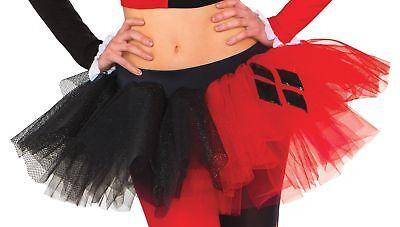 Harley Quinn Skirt (Harley Quinn Tutu Skirt Womens Adult Costume Accessory NEW)