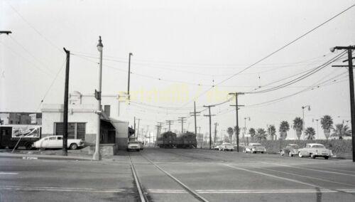 PE Pacific Electric Railway - Interurban Cars - Vintage Railroad Negative