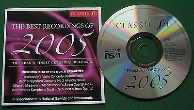 Classic FM The Best Recordings of 2005 inc Tchaikovsky Violin Concerto +