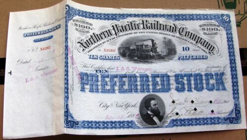 Northern Pacific Railroad Company dated 1880s- 1890