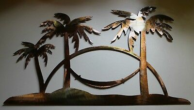 Palm Tree Scene (Tropical Palm Tree Scene Metal Art)
