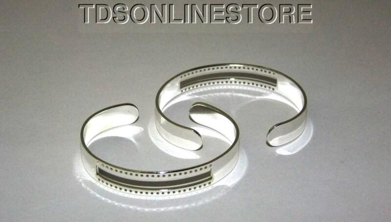 Centerline Silver Plated Adjustable Bracelet Cuffs Package Of 2