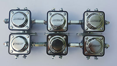 Accumax Heavy Duty solenoids set of 6 wcoupling nuts low rider 10A F1025