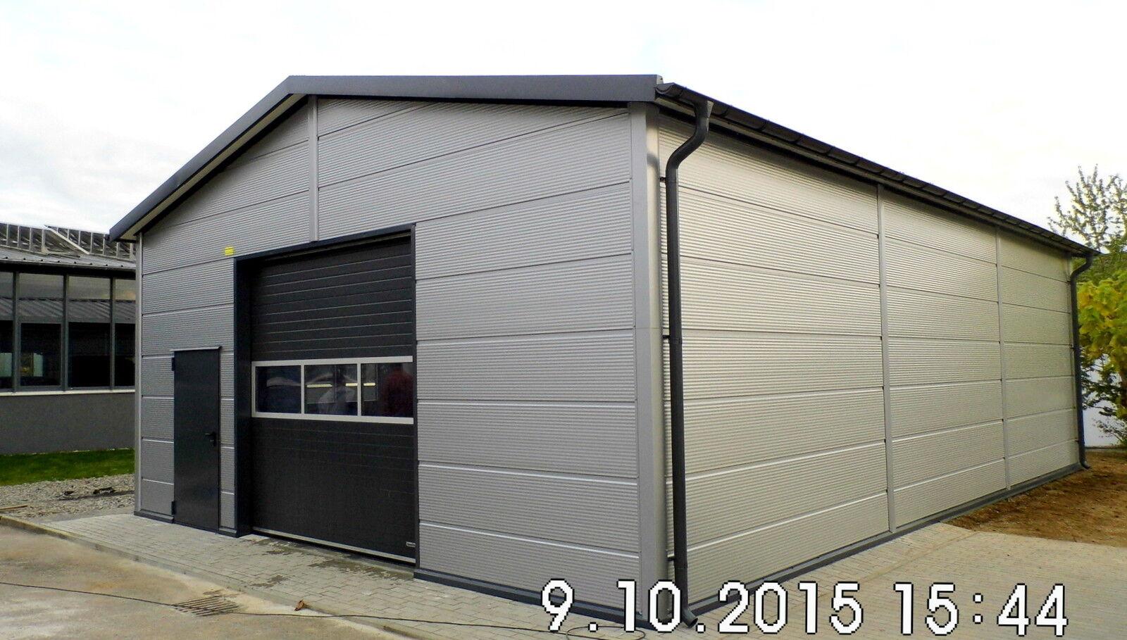 Isolierte Stahlhalle/ Garage 8 x 12 x 3,6/ 4,5 m  NEU!!
