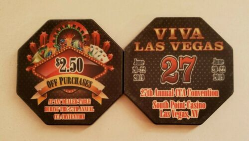 $2.50 Las Vegas South Point 25th Annual CCA Casino Chip - Uncirculated