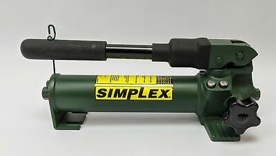 Simplex P22 Hand Pump For Oil Tank Capacity 20 Cu. In. 10000 Psi Green Cylinder