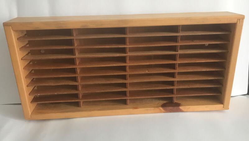 NAPA Valley Box Company Wooden 36 Slot Cassette Tape Storage Case Holder Vin