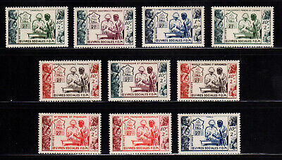 1950 French Colonies TROPICAL MEDICINE ISSUES Complete MNH