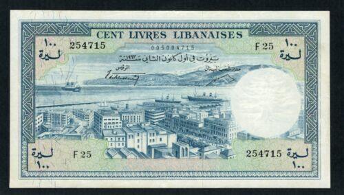 100 Livres 1963  aUNC Chamouni - Lebanon - Liban - Libano (*.9