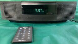 Bose Wave Radio CD Player Alarm Clock Auxiliary iPod Input AWRC-1G Black