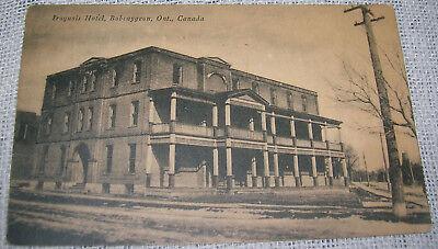 Vintage Iroquois Hotel, Bobcaygeon, Ontario, Canada Postcard