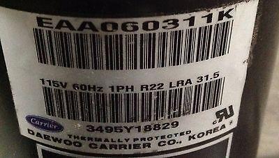 Discounthvaccp-p0330601he-carrier Compressor Eaa060311k 115v R22 Free Freight