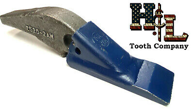L 2520-2ah Hl Tooth Original Weld On Adapter 2a Teeth Crimped Assembly Bw Style