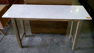New Classic Timber White Marble Hall Table Hallway Console Melbourne CBD Melbourne City Preview