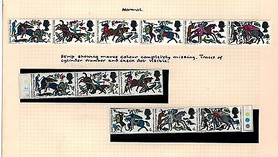 1966 BATTLE OF HASTING  MISSING MAGENTA COLOUR ERROR MISTAKE STAMPS MNH STRIP