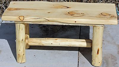 Rustic Log Bench - Cabin, Lodge, Country Log Furniture