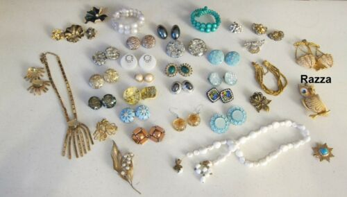 Vintage Designer Signed Jewelry Lot Repairs