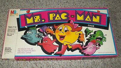 1982 MS PAC-MAN BOARD GAME COMPLETE BY MILTON BRADLEY AGES 7-14