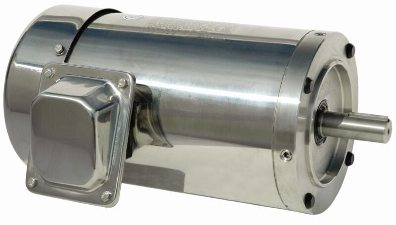 1.5 hp electric motor 145tc stainless steel washdown 3 phase 1800 rpm premium