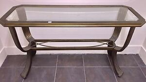 Sofa Table -Glass & Metal
